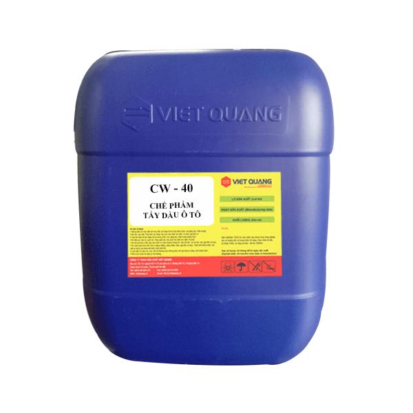 hóa chất tẩy dầu ô tô CW40