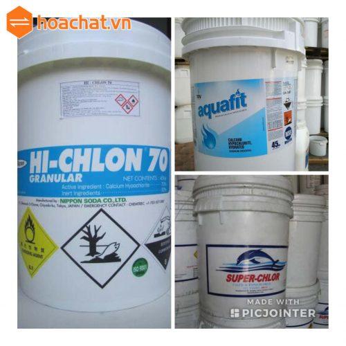 Các loại clorin thường sử dụng